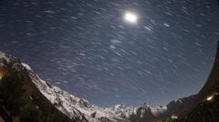 Atlas mountains stars starlapse night sky astronomy Stock Footage