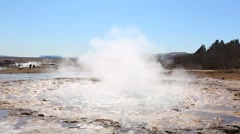 Erupting geyser in Iceland Stock Footage