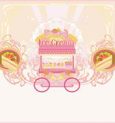 Candy store - abstract retro card Stock Illustration