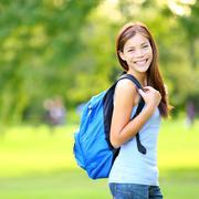 Student girl - Asian female college or university student Kuvituskuvat