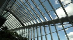 Wonderful sky garden at Walkie Talkie Tower in London - no property release Stock Footage