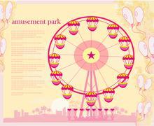 Abstract card - amusement park illustration Piirros