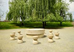 Silent Table artwork Constantin Brancusi Stock Photos