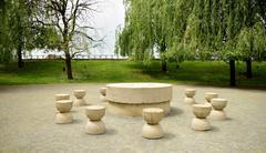 Stock Photo of Silent Table artwork Constantin Brancusi