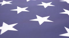 Close-up  American flag shoot with dolly 4K 2160p UHD video - USA flag stars Stock Footage