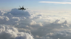 Two F-18 Fighter Jets Flying Towards the Camera Stock Footage