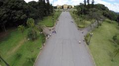 Aerial view of Ipiranga in Sao Paulo, Brazil, Latin America Stock Footage
