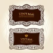 vintage frames labels. vector decor - stock illustration