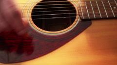 Hand Strumming Guitar CU 2 - stock footage