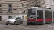 Stock Video Footage of tramcar in Vienna