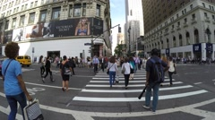 People Walking on Herald Square at 34th St. and Broadway Stock Footage