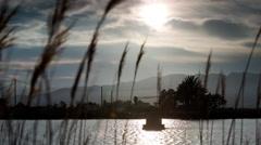 Wetland delta ebro spain coast lagoon Stock Footage
