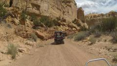 San Rafael Desert Eagle Canyon 4x4 recreation ride HD 343 Stock Footage