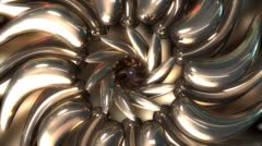 Metallic Platinum Flower Stock Footage