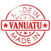 Made in Vanuatu red seal - stock illustration