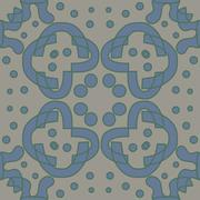 Blue and Gray Symmetry Pattern - stock illustration