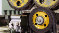 Industrial equipment in factory Stock Footage