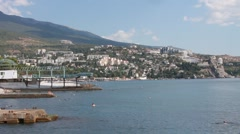View on Gurzuf, Crimea Stock Footage