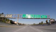 Los Angeles 101 Freeway Sign Los Angeles Stock Footage