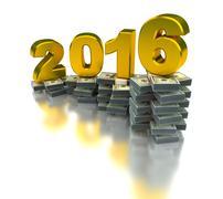 Stock Illustration of Growing Economy 2016