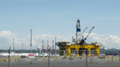 Oil Rig, Polar Explorer, Offshore Drilling Stock Footage