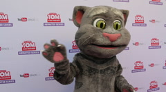 Talking Tom Animated Series Red Carpet Premier Event - stock footage