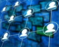 Linked profiles Stock Illustration