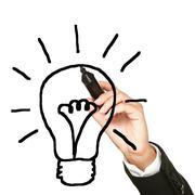 Light bulb business idea - stock photo