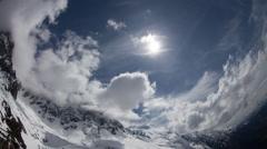 Matterhorn alps switzerland mountains snow peaks ski timelapse Stock Footage