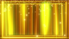 Gold bars exploding particles background Stock Footage