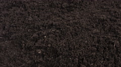 Black soil motion background, Garden soil 4k Stock Footage