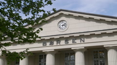 Oslo Stock Exchange building Norway Stock Footage