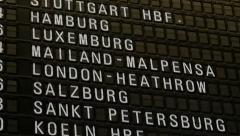 Arrival Departure board Stock Footage