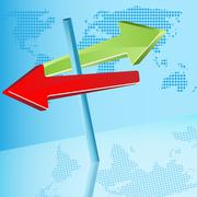 Red and green  arrows Stock Illustration