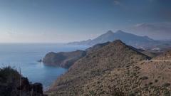 Coastal panoramic timelapse, cabo de gata, spain Stock Footage