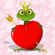 The frog princess Stock Illustration