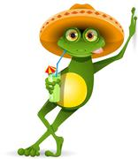 Stock Illustration of Frog in a hat