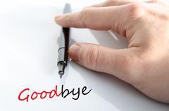 Stock Photo of Goodbye concept
