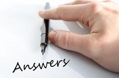 Answers concept - stock photo