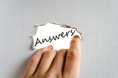 Answers concept Stock Photos