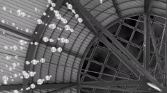 Spinning open roof abstract Stock Footage