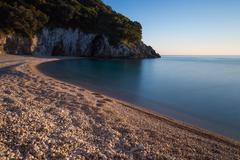 Rovinia beach, Corfu, Greece - stock photo