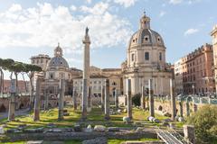 The Trajan's Forum (Foro Di Traiano) in Rome, Italy - stock photo