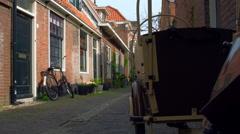 Another Bicycle in  Korte Annastraat Haarlem Holland Netherlands Stock Footage