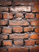 Background of colorful brick wall texture. brickwork. Stock Photos