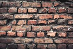 Background of colorful brick wall texture. brickwork. - stock photo