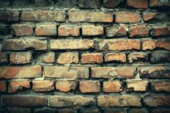 Stock Photo of Background of colorful brick wall texture. brickwork.