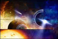 Space scientific background Stock Illustration