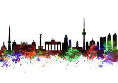 Berlin Brandenburg Gate Stock Illustration