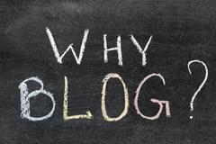 why blog? - stock photo